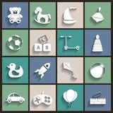 Toys Vector Flat Retro Icons Royalty Free Stock Images