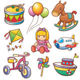 Toys. Vector illustration of Cartoon toys set Royalty Free Stock Photos