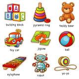 Toys. Vector illustration of Cartoon toys vocabulary Royalty Free Stock Image