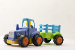 Toys vehicle. For kids, tractor Stock Images