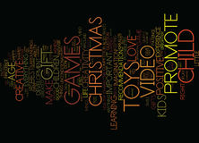 Are Toys Video Games The Right Christmas Gifts For Kids Word Cloud Concept Royalty Free Stock Photos