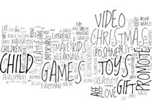 Are Toys Video Games The Right Christmas Gifts For Kids Word Cloud Royalty Free Stock Image