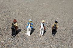 Toys of Western People on Horses royalty free stock image