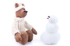 Toys in winter time Royalty Free Stock Photography