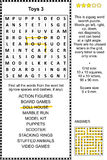 Toys wordsearch puzzle 3 Royalty Free Stock Photos