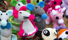 Toys with worsted Stock Image