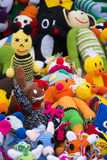 Toys with worsted Stock Photo