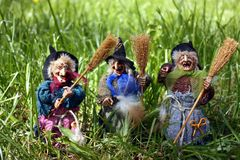 The toys - Yaga. Merry Russian toys from Russian fairy tales stock photos