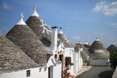 Toyshop in trulli street in Alberobello, Italy Stock Photos