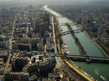 Toytown Paris. The  photo show the Paris with tilt-shift filter Royalty Free Stock Photography