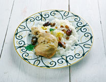 Toyuq plov - chicken pilaf Royalty Free Stock Images