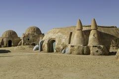 TOZEUR, TUNÍSIA - 17 DE MAIO DE 2017: Plateau de filmagem de Star Wars construído em 197 Imagens de Stock