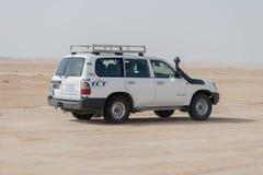 Land cruiser captured during safari in Tunisia, Africa royalty free stock photos