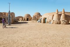 Free TOZEUR, TUNISIA - MAY 17, 2017: Star Wars Movie Set Built In 1977 Royalty Free Stock Photo - 136556725