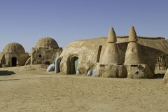 TOZEUR, TUNISIA - MAY 17, 2017: Star Wars movie set built in 197 Stock Images