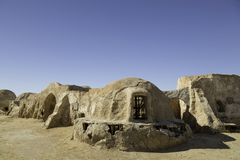 TOZEUR, TUNISIA - MAY 17, 2017: Star Wars movie set built in 197 Stock Photos