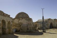 TOZEUR TUNISIEN - MAJ 17, 2017: Star Wars filmuppsättning som byggs i 197 Royaltyfri Fotografi