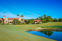 TPC Sawgrass Clubhouse - Ponte Vedre, Florida. Next to the famous golf course, the The Players Championship Sawgrass Clubhouse is a posh resort featuring elegant stock photos