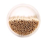Tpo view on toothpicks in a round box. Stock Photos