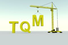 Tqm-byggnadsbegrepp vektor illustrationer