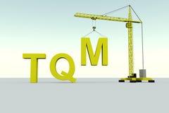 TQM de bouwconcept vector illustratie