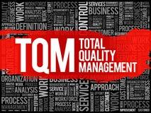 TQM - De totale wolk van het Kwaliteitsbewakingswoord royalty-vrije stock foto