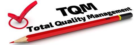 TQM Totale kwaliteitsbewaking Het teken stock illustratie