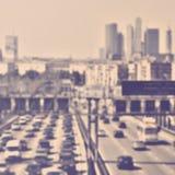 Tráfego abstrato do borrão nas horas de ponta Fotografia de Stock