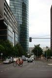 Tráfego antes de Sony Center Berlin Imagens de Stock
