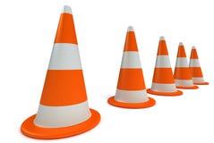 Tráfego-cones Fotografia de Stock