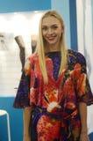 Tráfego da expo de Lingrie do desfile de moda de Moscou louro Fotografia de Stock