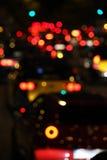 Tráfego da noite imagens de stock royalty free