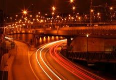 Tráfego da noite Imagens de Stock