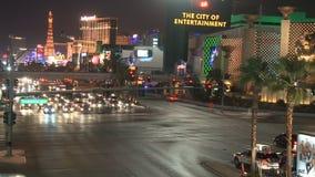Tráfego da noite de Las Vegas - lapso de tempo - grampos 4 de 12 filme