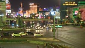 Tráfego da noite de Las Vegas - lapso de tempo - grampos 1 de 12 filme