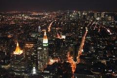 Tráfego da noite em New York Imagem de Stock Royalty Free