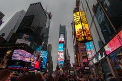 Tráfego da noite em New York City Fotografia de Stock