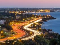 Tráfego da noite em Perth Imagem de Stock