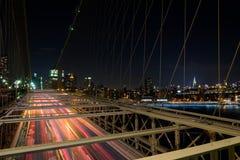 Tráfego da ponte de Brooklyn Foto de Stock