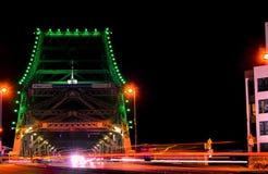 Tráfego da ponte da história fotografia de stock