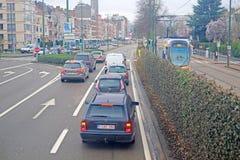 Tráfego da rua em Bruxelas Fotos de Stock