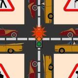Tráfego da segurança na estrada Foto de Stock