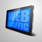 Tráfego da Web da tabuleta Foto de Stock
