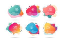Tráfego da Web, serviço do caderno e ícones da educação Sinal da ideia Janela do Web site, reparo do computador, pontas rápidas V ilustração do vetor