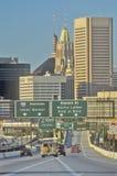 Tráfego das horas de ponta, Baltimore, Maryland foto de stock royalty free