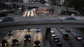 Tráfego das horas de ponta em Los Angeles do centro filme
