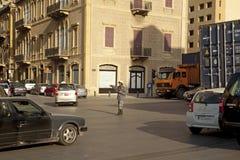 Tráfego de direção, Beirute fotografia de stock
