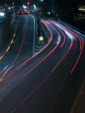 Tráfego de estrada da noite Fotos de Stock