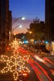 Tráfego de feriado na cidade Fotografia de Stock