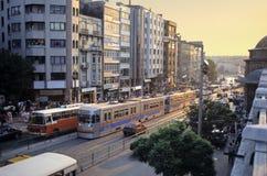 Tráfego de Istambul imagem de stock